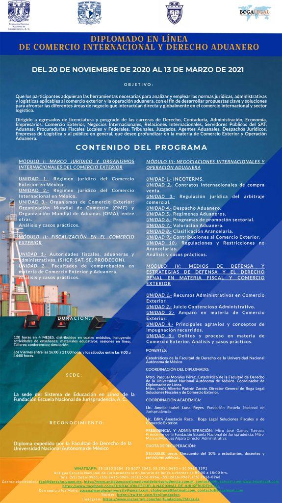 Diplomado en Línea de Comercio Internacional y Derecho Aduanero